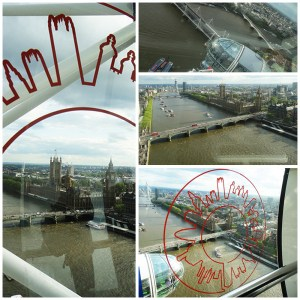 Vista do London Eye