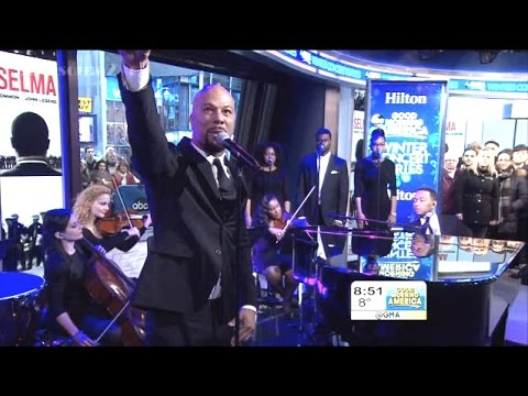 "John Legend and Common Proclaim ""Glory"" on GMA [FULL PERFORMANCE] @COMMON @johnlegend @GMA"