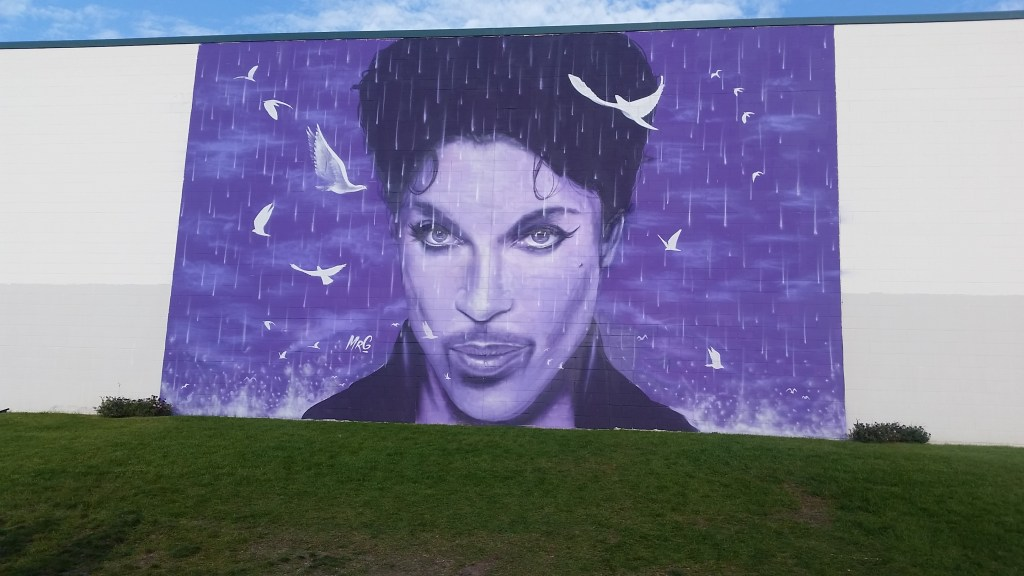 Prince Mural at Chanhassen Cinema in Chanhassen, Minnesota