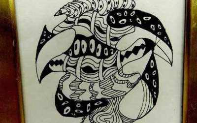 Sea Urchin ZenDoodle