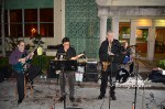 The jazz band outside Spizzigo