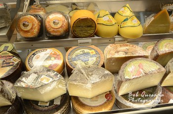 Large variety of cheeses.