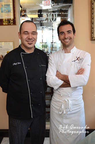 Chefs Jon Gonzalez and Jose Ruiz.