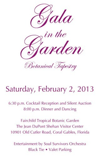 Gala in the Garden Invite
