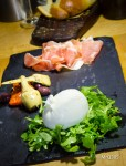 Burrata with Prosciutto di Parma at Cibo Wine Bar.