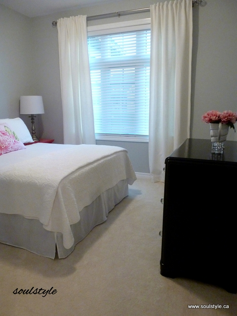 gray bedroom painted furniture