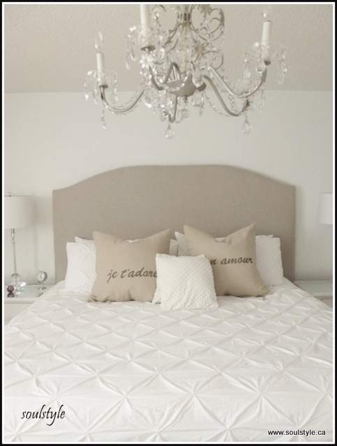 Upholstered headboard view