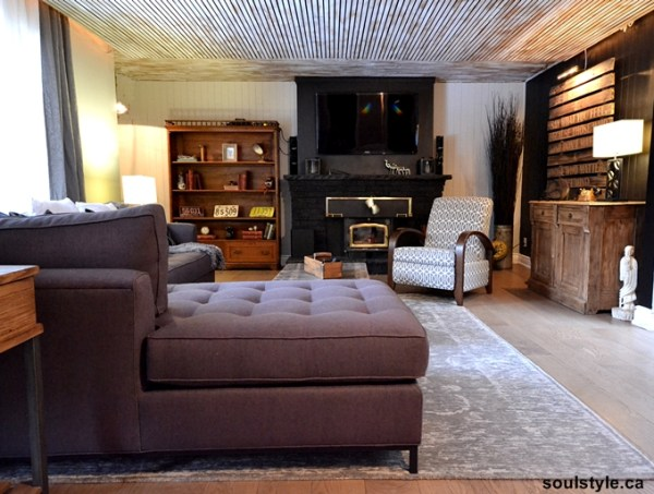 Rustic Vintage Masculine Living Room After