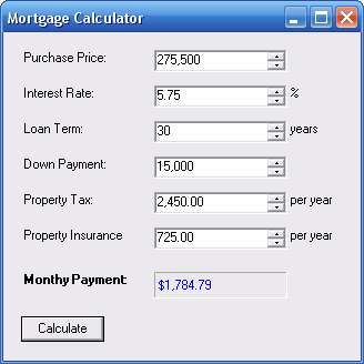 Mortgage Solver 1.0 | Free source code, tutorials and articles
