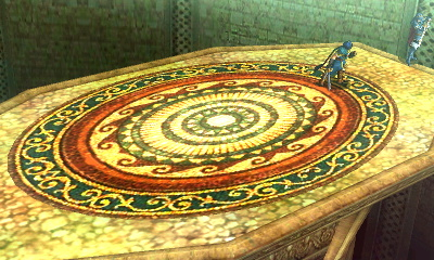 If you compare with the normal version, as well as the source game, you'll notice there's texturing error in the pattern of the arena for the stage's Omega form.