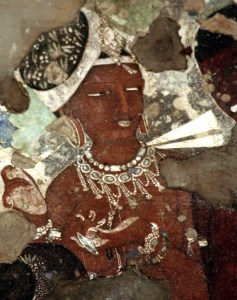 A woman of ancient India, from the Ajanta cave paintings