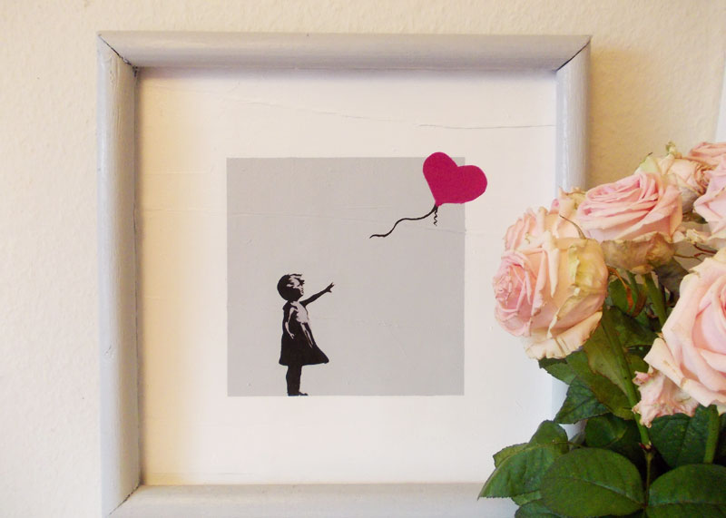 balloon girls von banksy dekobild selbst gestalten. Black Bedroom Furniture Sets. Home Design Ideas