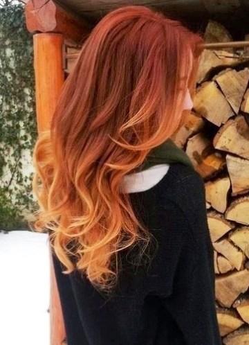 Ombre kurze haare rot