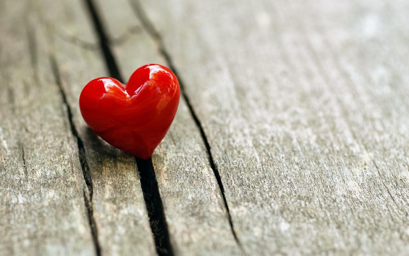Holz Wallpaper Mit Roten Liebe Herz Hd Lieben Hintergrund