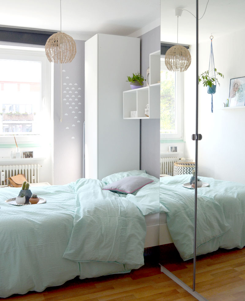 schlafzimmerdeko neue bettw sche in mint und viva la vida wandposter. Black Bedroom Furniture Sets. Home Design Ideas