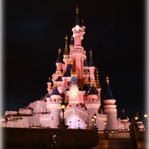 chateau disneyland paris castle night