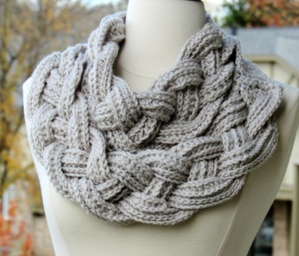 Braided Cowl - snood tresse