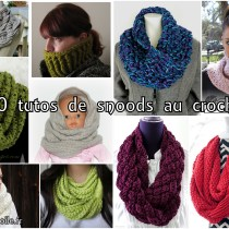 10 tutos de snoods au crochet