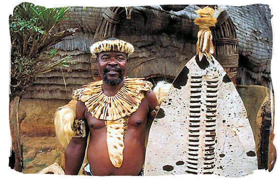 inDuna in full regalia, Zulu name for a chief or a commander of a group of warriors appointed by the king