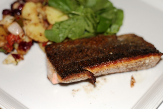 Brown Butter Seared Salmon