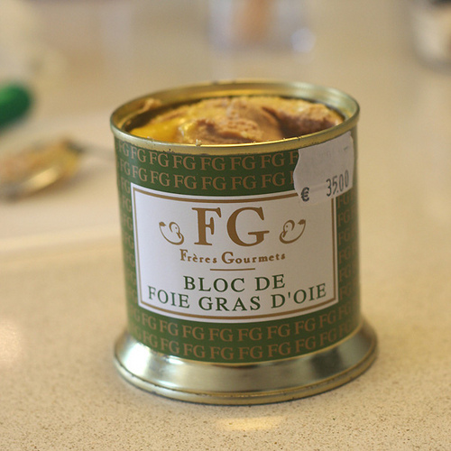 Foie Gras in a Can. Photo courtesy of Rubber Slippers in Italy via Flickr.