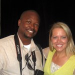 Sharing a smile with Food Network star, Melissa D'Arabian.
