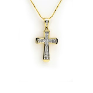 South Bay Gold - Diamond Cross Pendant on Gold
