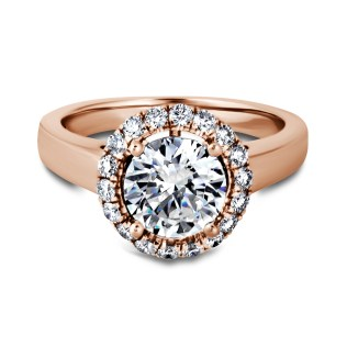 South Bay Gold Round Diamond Halo Ring