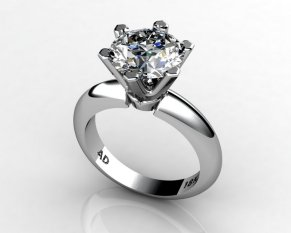 Round Cut Diamond Solitaire Engagement Ring - South Bay Gold - Torrance Jewelry Store