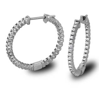 South Bay Gold Diamonds Hoop Earrings-Torrance