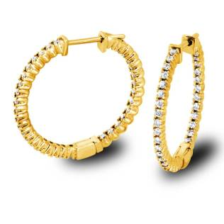 Diamonds Hoop Earrings-Torrance