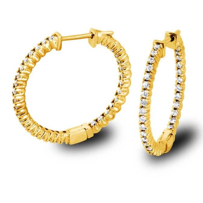 Diamonds Hoop Earrings-Torrance