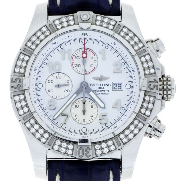 Breitling 1884 Super Avenge II Diamond Bezel Chronograph - South Bay Gold - Torrance