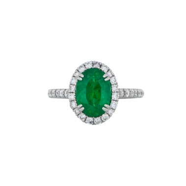 Emerald Diamond Halo Ring - White Gold - South Bay Gold -3- Compare With Ritani