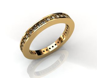 Wedding Bands Ladies Diamonds Channel Set 37 Stone 0.47 TCW Diamonds 3.61 GR 18KT Yellow Gold - Southbay Gold