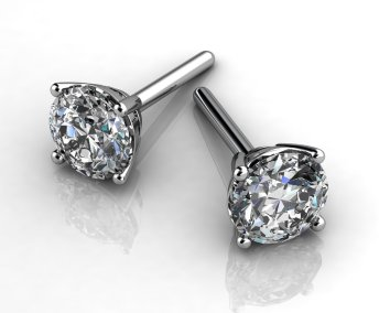 Diamond Studs - Custom Design - Valentines-Day
