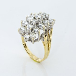 Multi Diamond Yellow Gold Estate Ring - 310 791 5431