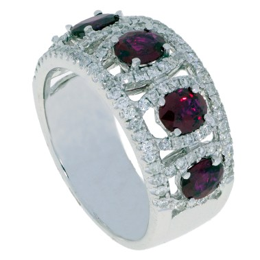 Ruby Diamond Ring -34- south bay gold