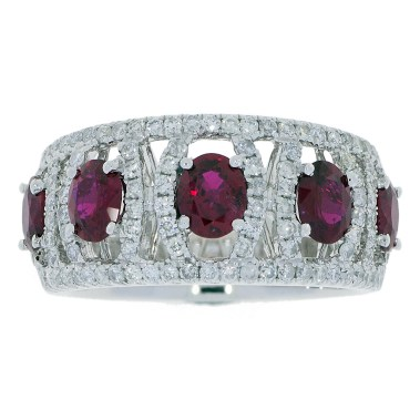 Ruby Diamond Ring -top- South Bay Gold