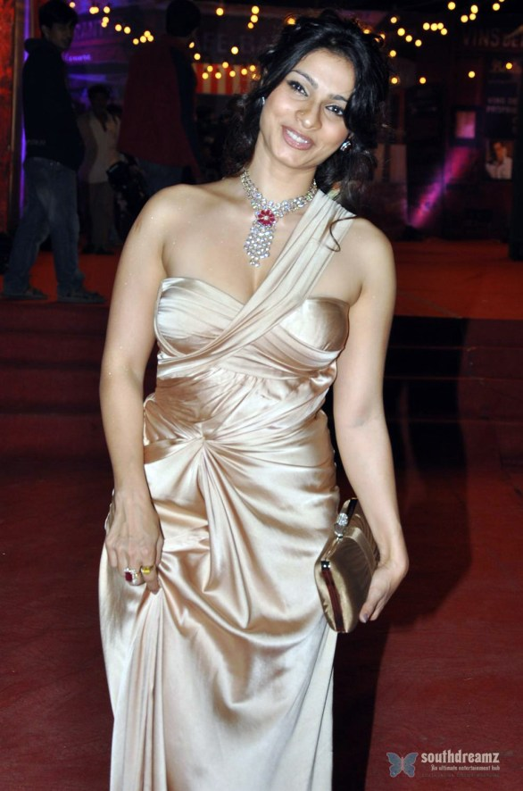 Sister of Kajol Tanisha Mukherjee at the 10th Annual Kamla Pasand MAX STARDUST AWARDS in Mumbai 586x886 Tanisha