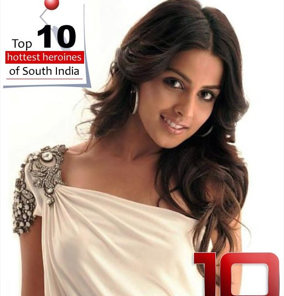 top 10 hottest genelia Top 10 hot heroines of South India
