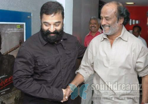 rajini kamal1 Kamal Hassan about pairing up with Superstar Rajnikanth