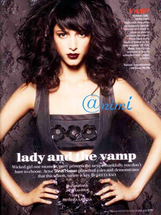 Shruti Hassan photoshoot3 Shruti Hassan on Vogue Magazine
