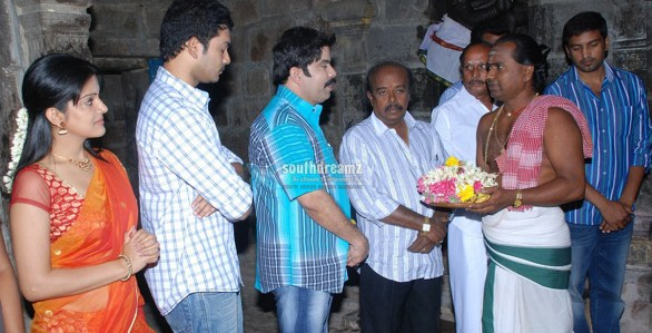 Kanna Laddu Thinna Aasaiya Movie Launch Stills 586x299 Red Giant Movies to release Santhanam Power Stars Laddu