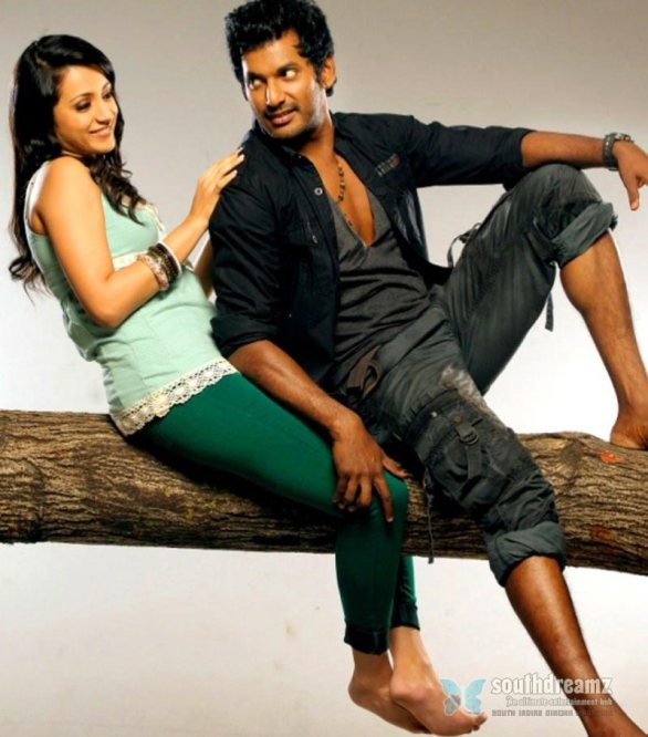 Vishal Trisha Samar Movie Photoshoot Stills 2 586x666 Trisha hot in Samar