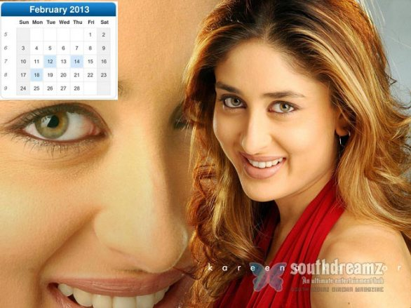 bollywood actress calendar 2013 wallpapers collection 2 586x439 Bollywood actress calendar 2013 wallpaper