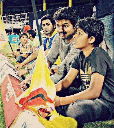 Vijay and Son Sanjay Actor Vijay's Son Sanjay gets a new Cricket Coach
