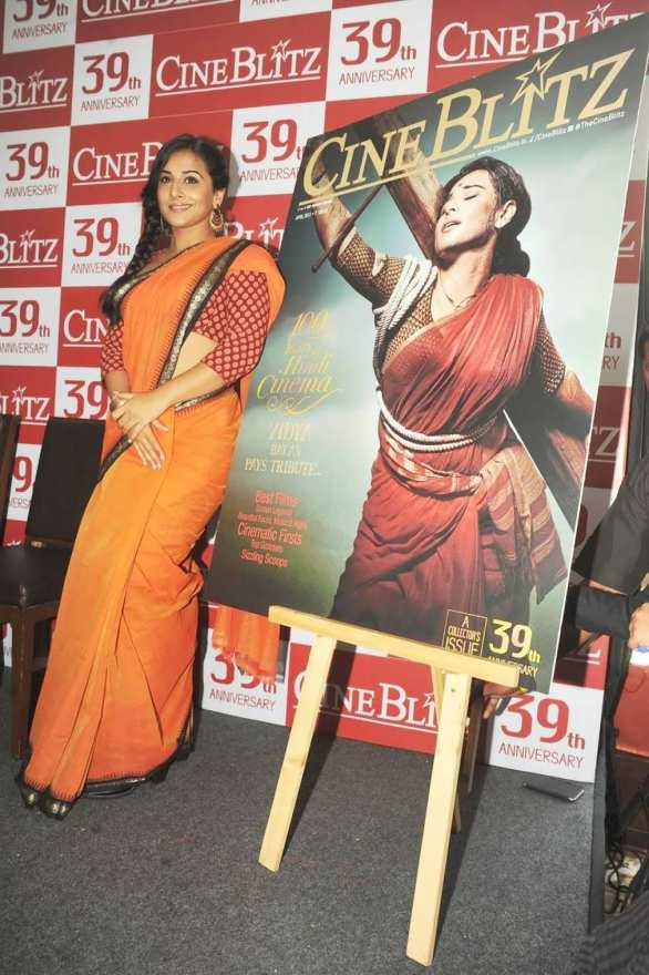 vidya balan launches cineblitz magazine april 2013 12 586x880 Vidya Balan Hot navel Show