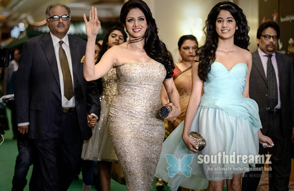 Athiloka Sundari on the Green Carpet Sridevi and Jhanvi Kapoor at IIFA Awards Photos