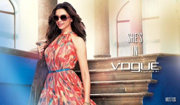 Deepika Padukone Print Media for Vogue Eyewear photos 4 586x343 Deepika Padukone Vogue Eyewear Photoshoot